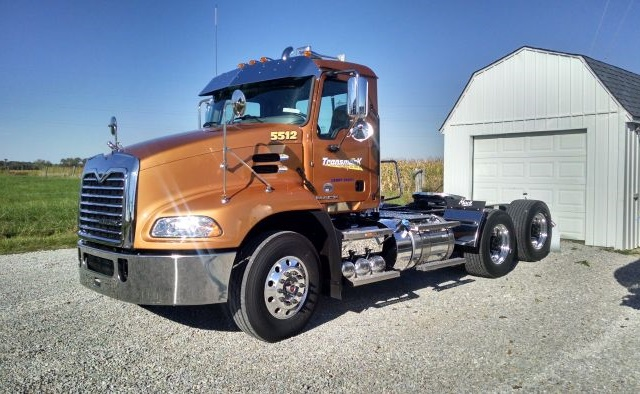 Elvin Knollman began buying Mack mDrives for his tanker fleet in 2011. Fuel economy improved by 0.25-0.5 mpg, and he noticed that his drivers weren't as tired at the end of a long day. Photo: Trans Mark Logistics