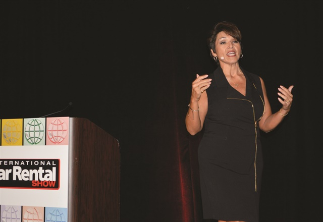 Mary Ann Sena-Edelen of MGM Resorts International presented the closing keynote session. She shared tips from the hospitality industry that rental companies could use to inspire employees' performance and improve renters' experiences.