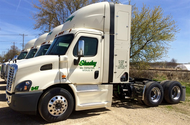 Ninety-two percent of Sheehy tractors pull the mail with CNG, and it should be 100% by next year.