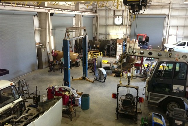 In its maintenance facility, fleet employees maintain equipment that ranges from sedans all the way to construction equipment and boats. Photo courtesy of Ascension Parish.