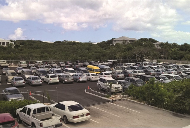 Grace Bay Car Rentals in Turks and Caicos picked a 1.5-acre piece of land — in a strategic location — for its storm parking lot. The lot is complete with fencing, security systems, and water storage wells for heavy rains. Photo courtesy of Grace Bay Car Rentals.