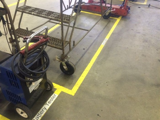 Technicians can easily find tools and equipment in Batesville's shop, saving time and frustration. Photo: Batesville