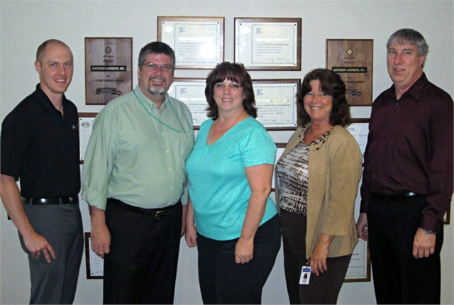 The implementation team at Superior, from left to right: Brad McDonald, Dave Culhane, Pame Hammond, Donna Hudson and Ken Shafer.