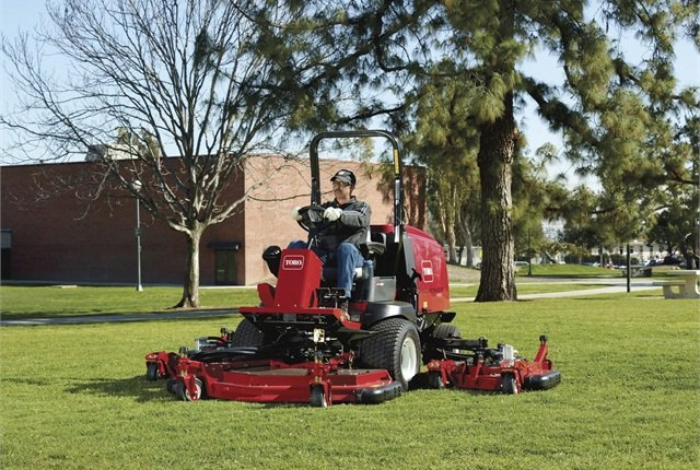 Diesel-fueled mowers, such as this Toro Groundsmaster 4000-D, are more fuel efficient and tend to last longer than similar gas models. Photo courtesy of Toro