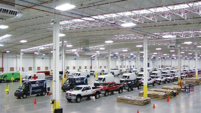 Utilimaster's upfit facility for Ram Truck in Saltillo, Mexico, installs equipment on heavy pickups and ProMaster vans, which are sent directly to dealers for delivery to customers.
