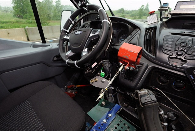 Ford engineers have developed a robotic vehicle testing system, which is being used to accelerate vehicle testing.