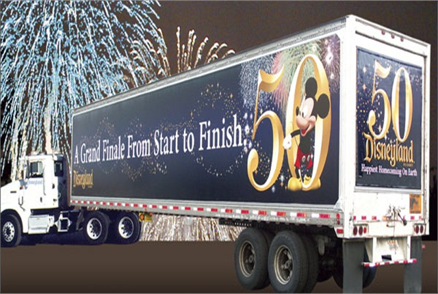 Last year, Disneyland celebrated its 50th anniversary with special promotions, including truckside ads produced by Epic Media.