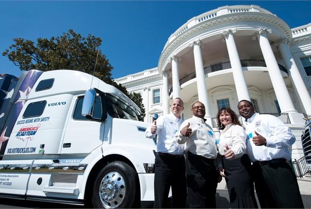 America's Road Team drivers at the White House. Photo: ATA