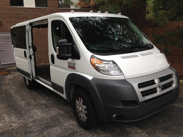 TVS Communication Solutions purchased two brand-new Ram ProMaster cargo vans to replace two of the fleet's older vans.