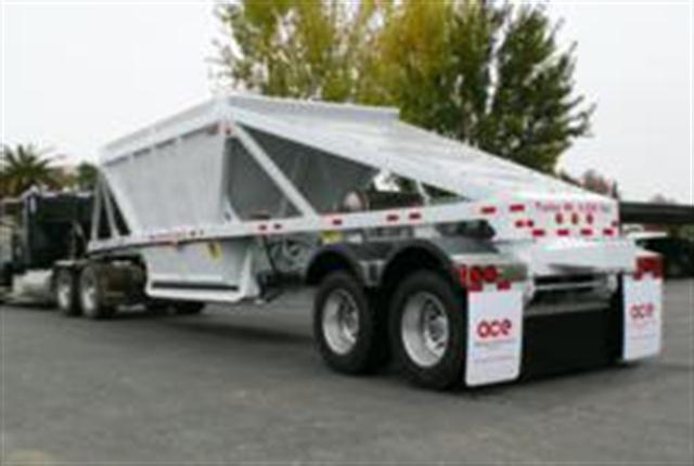 American Carrier Equipment's all-steel, tandem axle, semi bottom dump trailer is the culmination of a two-year research, development and field-testing program aimed at producing a tough, lightweight trailer.