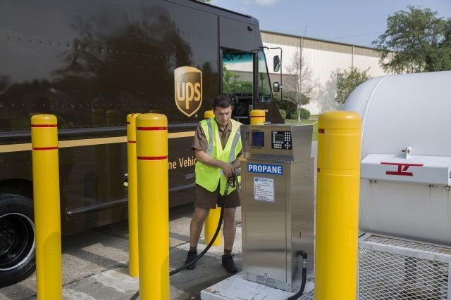 By the end of 2016, UPS will have invested more than $750 million in alternative fuel and advanced technology vehicles and fueling stations globally since 2009, including propane autogas vehicles.(Photo courtesy of UPS)