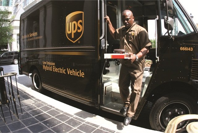 Name an alternative powertrain and UPS has probably tried it, such as the hybrid electric package cars like the one shown here.