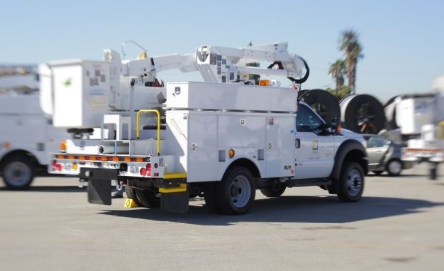 Recently, SCE took delivery of two lithium-ion-battery-equipped troubleman trucks, so named because they are used by troublemen, experts who are dispatched to investigate the causes of power outages. And, 22 more are on the way, according to the utility. (Photo: Southern California Edison).
