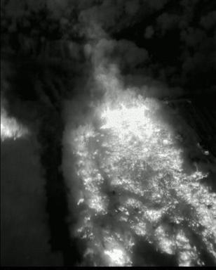 The Ventura County (Calif.) Sheriff's Office's UAV captured day and night images of fires. Photo courtesy of Ventura County Sheriff's Office.