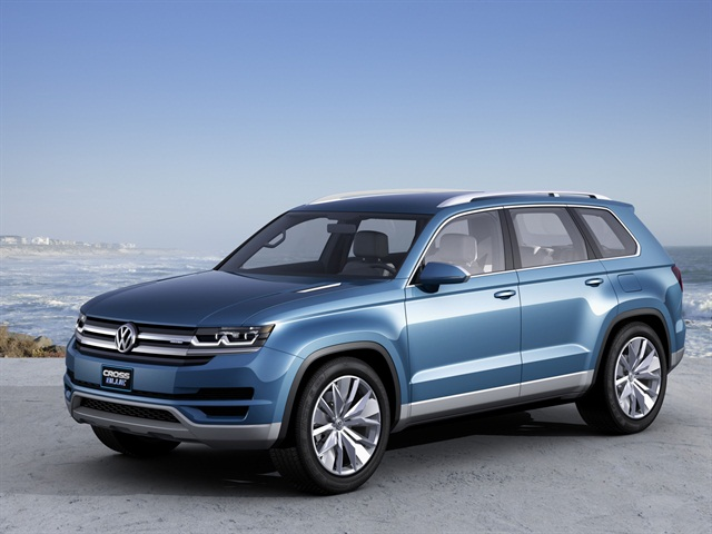 The Volkswagen CrossBlue is a mid-size SUV concept with a diesel plug-in hybrid powertrain.