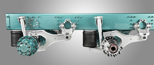 "Volvo's new suspension uses ""blades"" instead of springs for smoother braking and less tire wear."