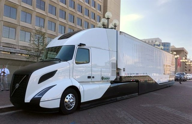 Volvo Truck's SuperTruck was revealed in September 2016. It achieved more than 12 mpg during the test run, and demonstrated an 88% improvement in freight efficiency and a 70% improvement in fuel efficiency over the baseline truck, a 2009 Volvo VNL 670. Photo: Jim Park