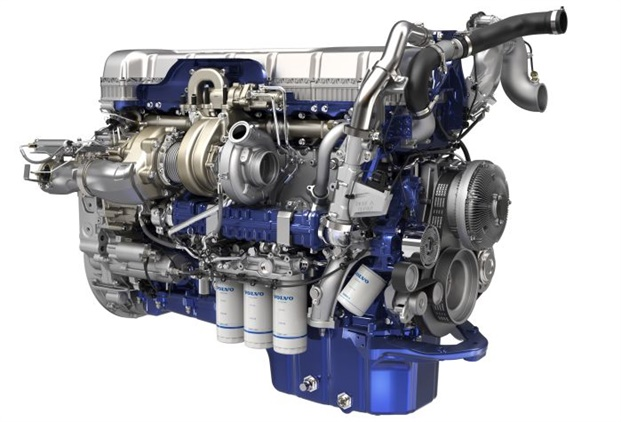 "Volvo Group engines are now using common rail fuel injection and the new ""wave piston"" to optimize combustion and nearly eliminate soot as a byproduct. Photo: Volvo"
