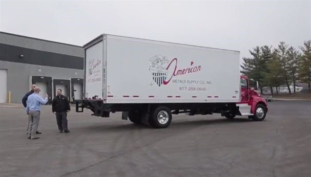 Wabash National's refrigerated truck bodies are constructed using state-of-the-art bonding assembly technology combined with a revolutionary patent-pending composite panel, providing up to 25% improvement in thermal efficiency when compared to conventional designs. (Screen capture from YouTube)