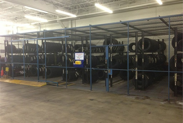 The tire cage at the Wake County, N.C., fleet facility is located in an inconvenient location. By moving it closer to the parts room, the fleet will improve efficiency on the shop floor.