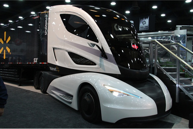 Walmart's WAVE concept turned heads at the Mid-America Trucking Show. Photo: HDT Staff