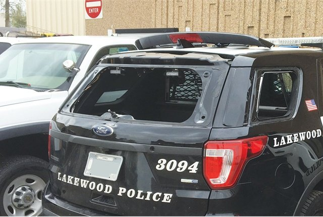 Nearly half of Lakewood, Colo.'s municipal fleet was damaged by a hailstorm that struck the Denver area in May. Photo courtesy of City of Lakewood