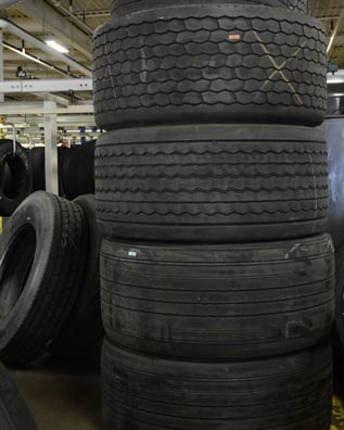 The retreading process for a wide-base single is no different from a dual, but casing integrity is a more important factor than it is for dual tires.