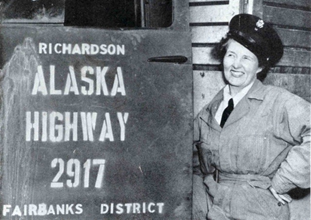 Rusty Dow, a Corps truck driver, traversed the Alaska Highway during the 1940s. Image: Army Corps of Engineers