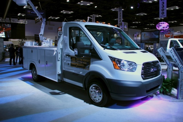 Ford displayed its new, 2019 Ford Transit Connect Wagon as well as several upfits for the popular fleet van model. (Photo by Lauren Fletcher)