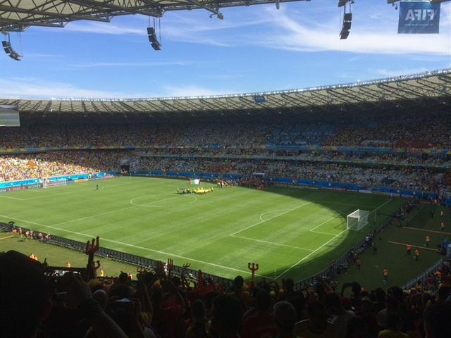 The World Cup match between Belgium and Algeria. Photo courtesy of Len Henderson-Maclennan.