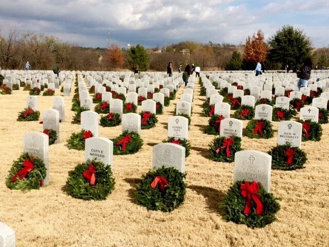 In addition to its annual donation of $25,000, which purchases 2,500 wreaths for the graves of the nation's veterans, Omnitracs will have representatives taking part in ceremonies in Dallas; Arlington, Va.; Minneapolis; and San Diego. (Photo courtesy of Omnitracs)