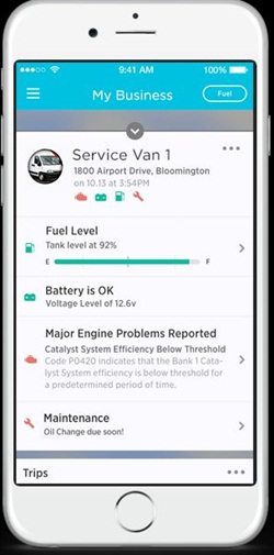 The Zubie platform can measure a vehicle's fuel level,detect engine problems and check the battery voltage. Photo courtesy of Zubie.