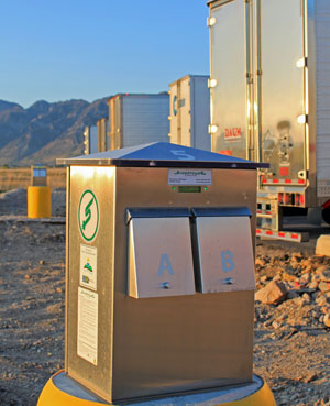 The Perry, Utah location is one of 50 truckstops on major freight corridors that are receiving plug-in-power installations through the federally funded Shorepower Truck Electrification Project.