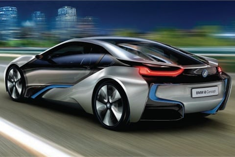 BMW announced earlier this year that it will become a majorplayer in the all-electric and hybrid market with its i subbrand. Among its first offerings will be the i8 (concept above).