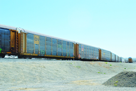 Rail's Role in Vehicle Transport
