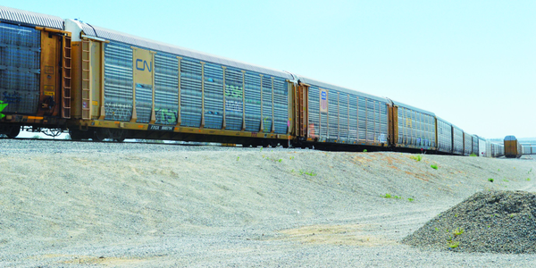 Rail cars come into Union Pacific's Mira Loma, Calif. facility. Photo courtesy of Adam Pringle.