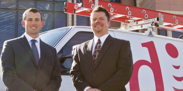 Brian Nickelson, director of operations – finance (left), and Abe Stephenson, fleet and...