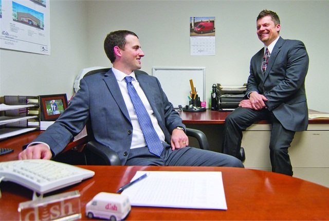Brian Nickelson (left) and Abe Stephenson have a good working relationship, allowing them to collaborate in the effective management of DISH Network's nationally dispersed fleet.  They oversee a team of six.