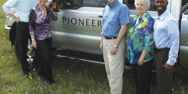 Established by Corporate Fleet Manager Anthony Foster (far left) in 2011, Pioneer Natural...