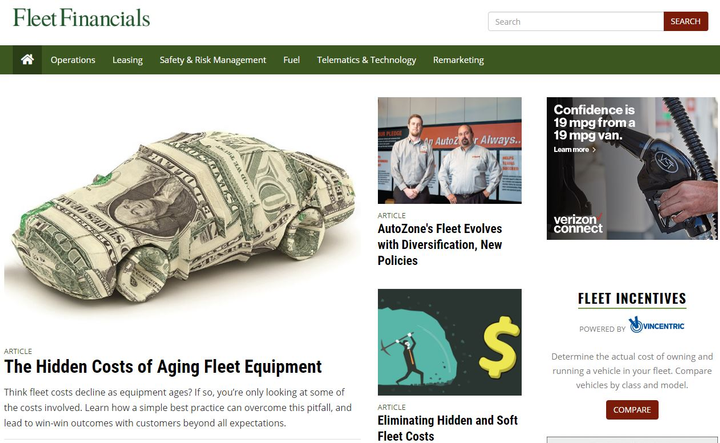 Screenshot of FleetFinancials.com