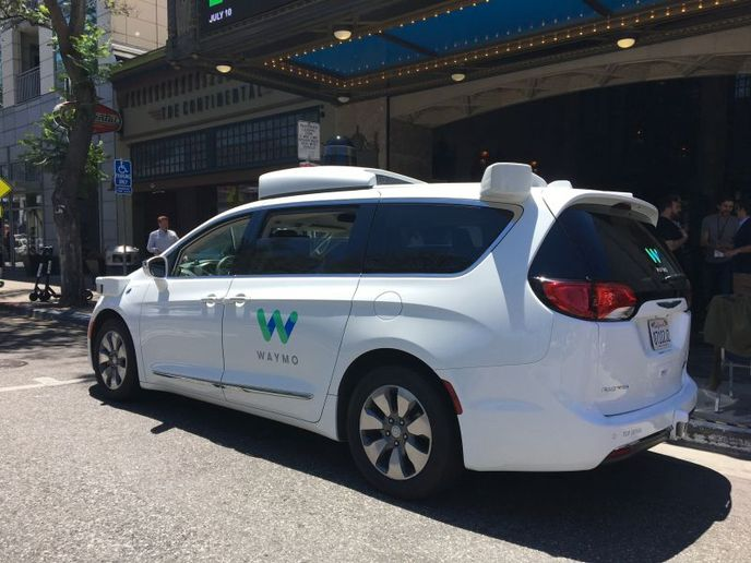 On the local delivery front, Waymo Via is repurposing its Pacifica minivans operating in its ride-hailing fleet for pilots in metro Phoenix, Ariz. with Auto Nation and UPS. - Photo by Chris Brown.