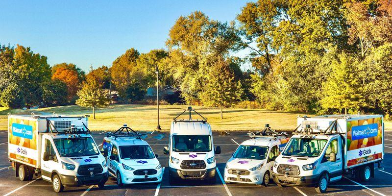"""The Gatik fleet completes autonomous middle-mile deliveries by doing a """"constrained Level 4""""..."""