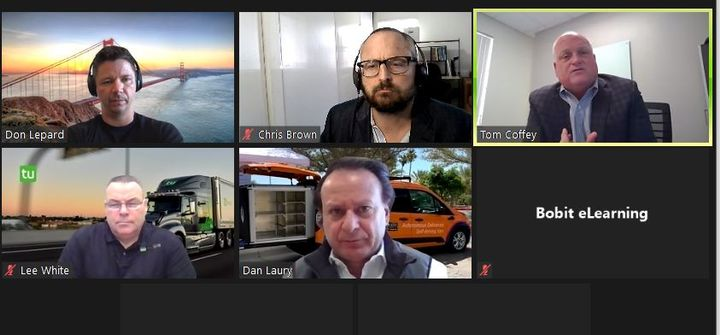 Tom Coffey of Merchants Fleet corralled three autonomous technology SME's — Daniel Laury of Udelv, Don Lepard of Kodiak Robotics, and Lee White of TuSimple — to discuss the business models for fleets to integrate autonomous technology. -