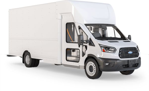 The Shyft Group's new Velocity F2, a Class 2 delivery van built on a Ford Transit chassis, was designed for multiple-stop routes and urban deliveries. With a GVWR of 9,950 lbs. it falls outside of DOT requirements, therefore it doesn't require a professional driver's license. - Photo via Shyft Group.