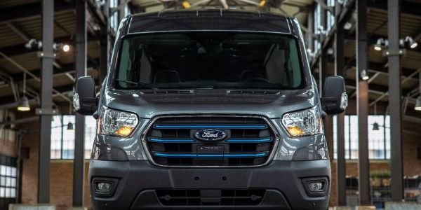 The Ford E-Transit has a maximum published range of 126 miles.