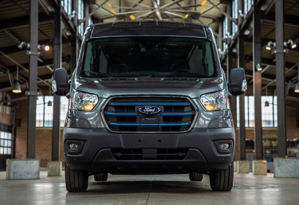 The Ford E-Transit has a maximum published range of 126 miles. - Photo courtesy of Ford Motor Co.