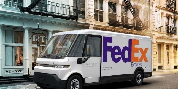 Later this year BrightDrop will start delivering 500 of its new EV600 delivery vans to Fedex,...
