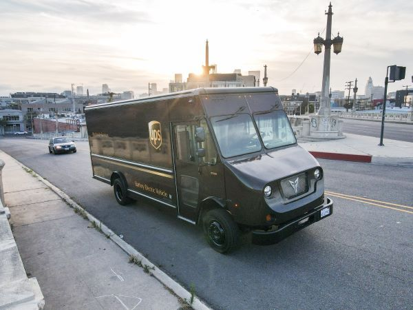 Xos, which designs its own battery packs, is currently testing its Class 6 electric truck with UPS.  - Photo courtesy of Xos.