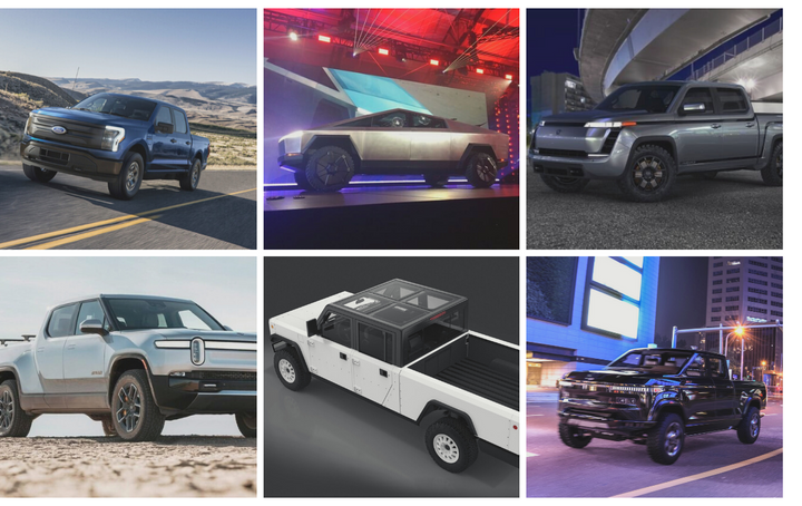Many automakers are jumping on the EV bandwagon for pickups coming soon to the market. Karl Brauer of iSeeCars says that the auto giants like Ford and Chevy bring strength in funding and infrastructure, but Rivian is one to watch due to strong partnerships out of the gate. - Photos courtesy of Ford, Chris Brown, Rivian, Lordstown, Bollinger Motors, andAtlisMotor Vehicles.