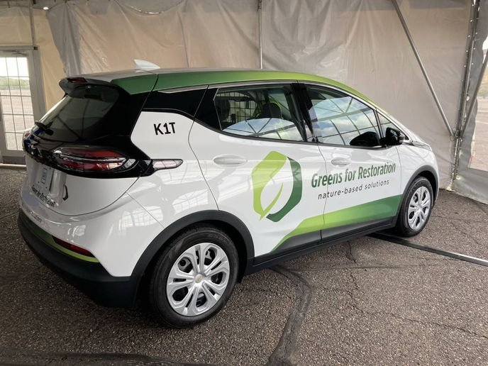 The Chevrolet Bolt EUV is new for the 2022 model year. The Bolt EUV has increased rear legroom and offers an EPA-rated range of 247 miles on a full charge. - Photo by Chris Brown